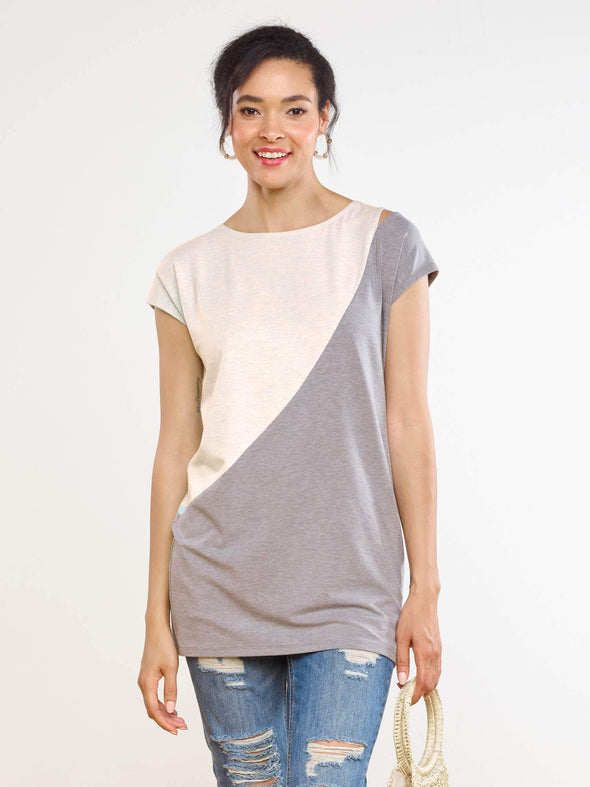 Kinsley shoulder slit tunic
