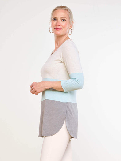 Luna 3-colour melange tunic