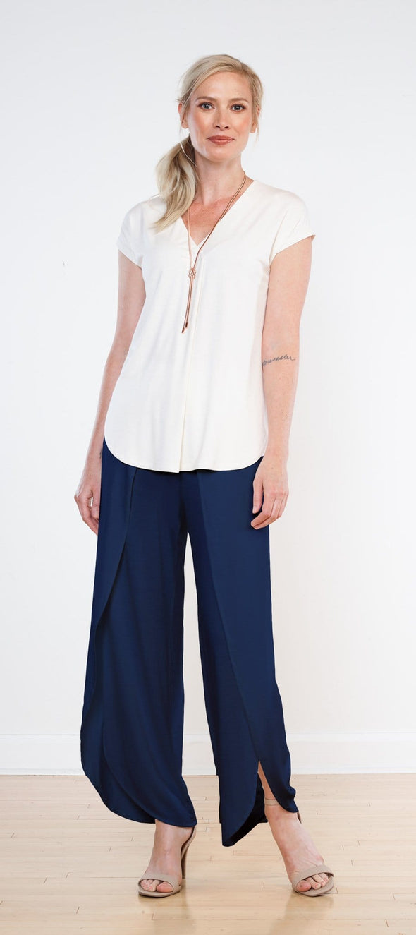 Marli cap-sleeve top - FINAL SALE