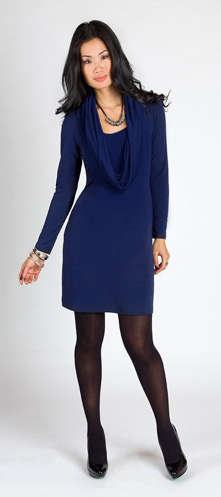 Adrienne reversible cowl dress