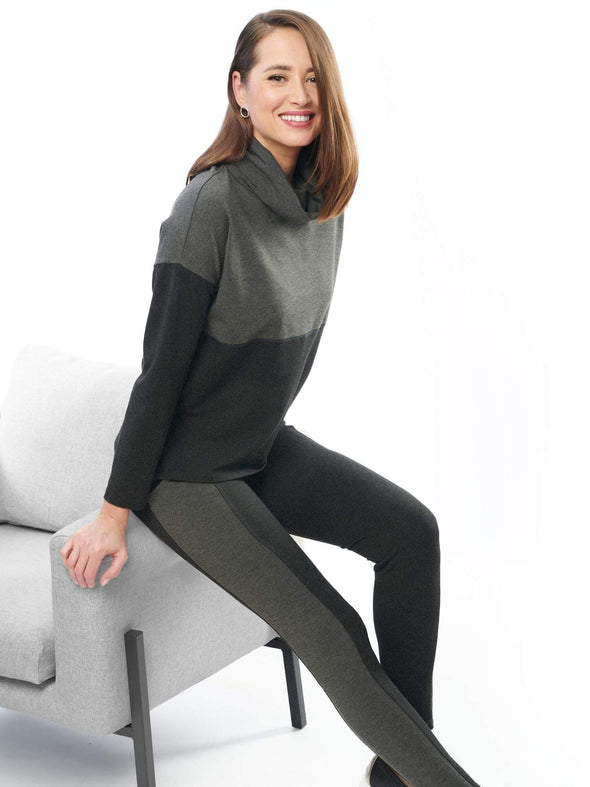 Oaklynn colour block cowl top