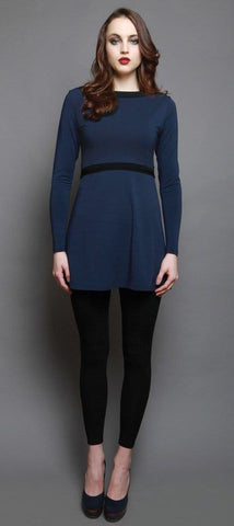 Suzanne cross-front tunic