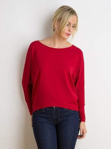 Connie bat-sleeve top
