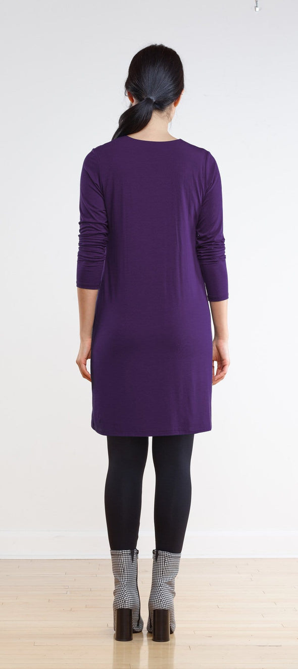 Vera inverted pleat A-line dress