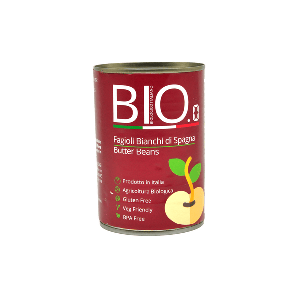 BIO.0 - Organic Canned Butter Beans 400g - Everyday Vegan Grocer