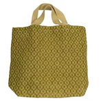 100% Jute Grocer Bag - Apple Green Duck - Everyday Vegan Grocer