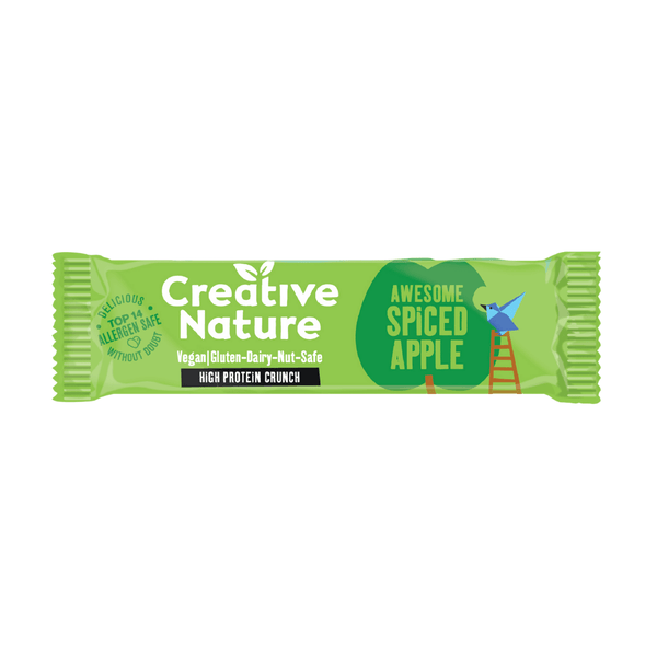 Creative Nature - Awesome Spiced Apple Protein Crunch Bar 40g - Everyday Vegan Grocer