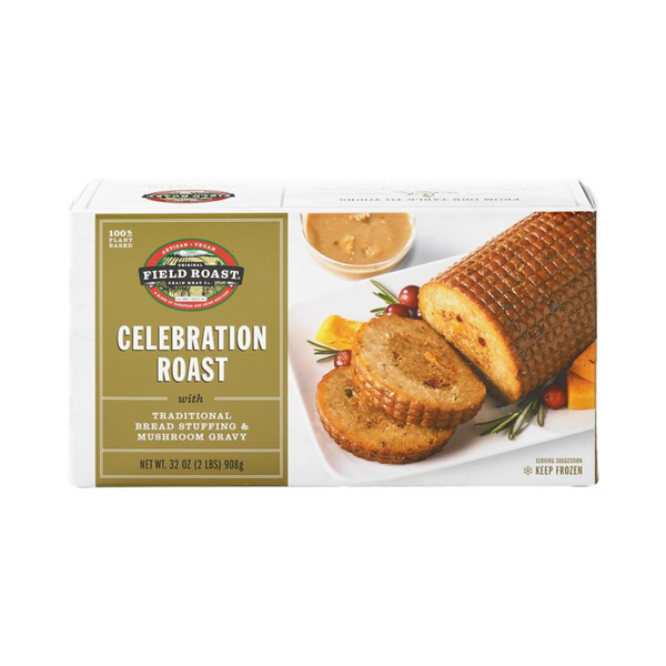 Field Roast - Celebration Roast with Traditional Bread Stuffing & Mushroom Gravy 908g - Everyday Vegan Grocer
