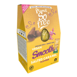 So Free - Salted Caramel Large Hollow Chocolate Easter Egg with Bunny Bar 110g