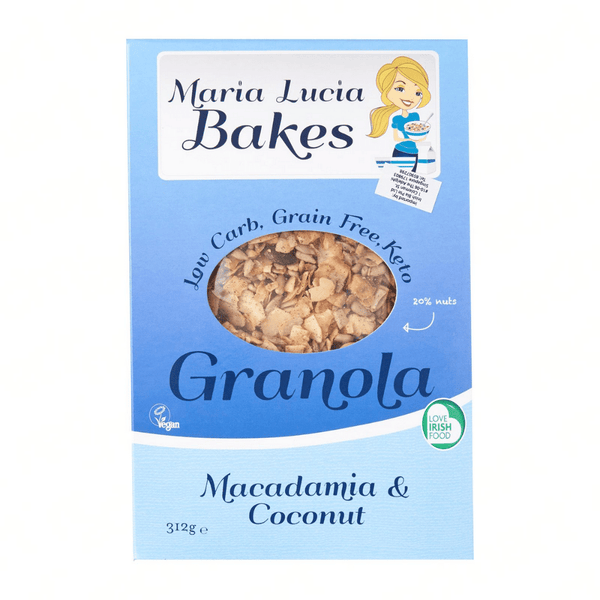 Maria Lucia Bakes- Macademia and Coconut Keto Granola 312g - Everyday Vegan Grocer