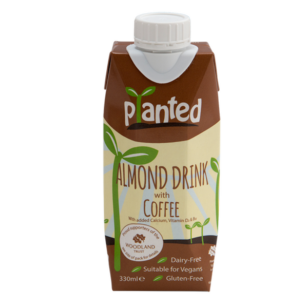 Planted - Almond Drink with Coffee 330ml - Everyday Vegan Grocer