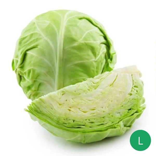 Organic Produce - Cabbage Large (750 - 900g) - Everyday Vegan Grocer