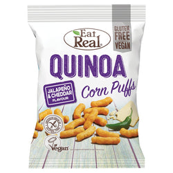 Eat Real - Quinoa Puff with Cheddar & Jalapeno 113g