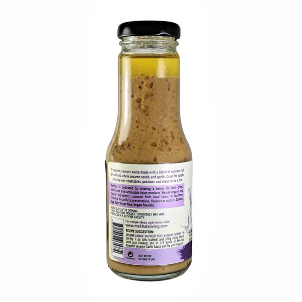 Mekhala Organic Roasted Sesame Garlic Sauce/Dressing/Dip - Everyday Vegan Grocer