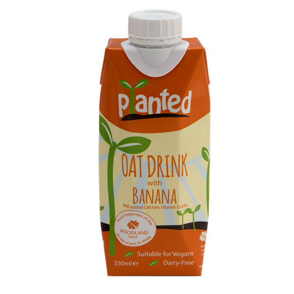 Planted - Oat Drink with Banana 330ml - Everyday Vegan Grocer