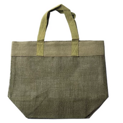 100% Jute Mesh Bag - Apple Green Duck