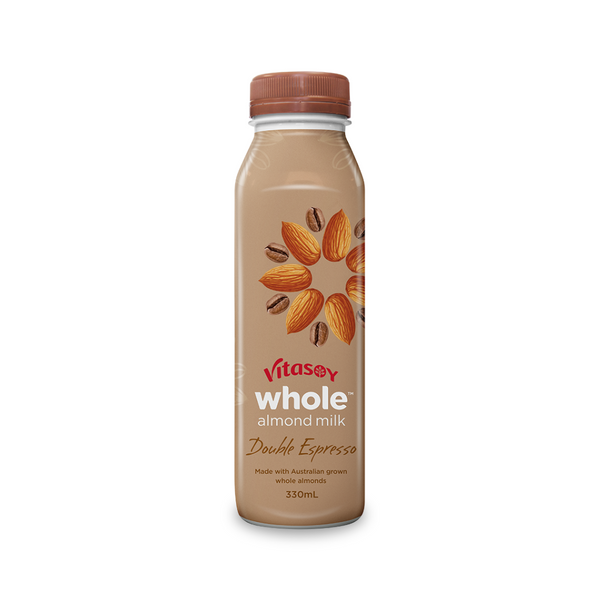 Vitasoy - Whole Almond Double Espresso 330mL - Everyday Vegan Grocer