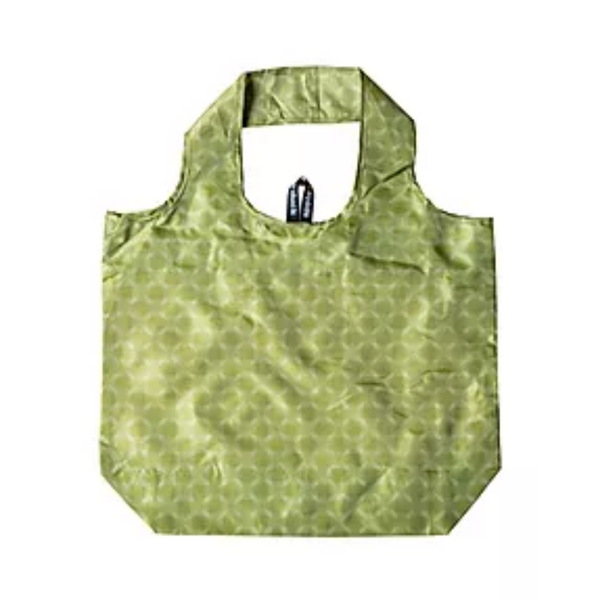 100% Nylon Foldable Yetty Eco Bag - Apple Green Duck - Everyday Vegan Grocer