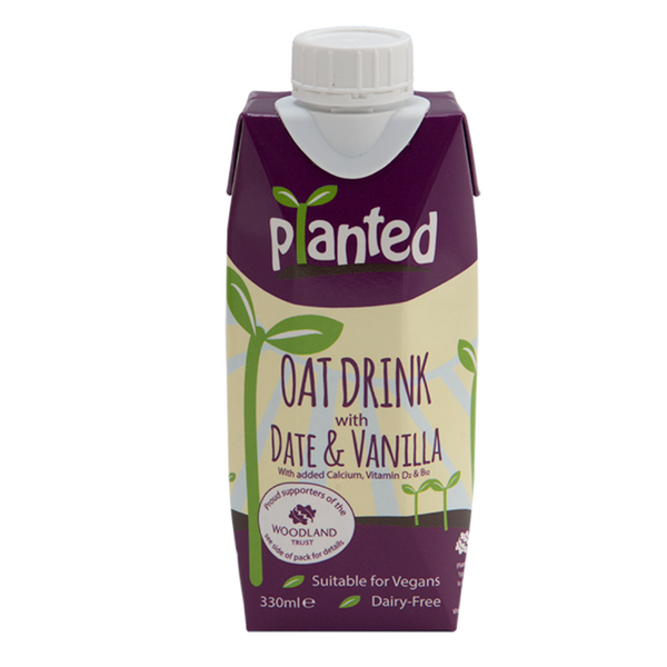 Planted - Oat Drink with Date & Vanilla 330ml - Everyday Vegan Grocer