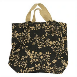 100% Jute Grocer Bag - Apple Green Duck