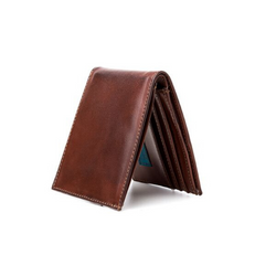 Ahimsa - Vegan Leather Men's Wallet - Cognac
