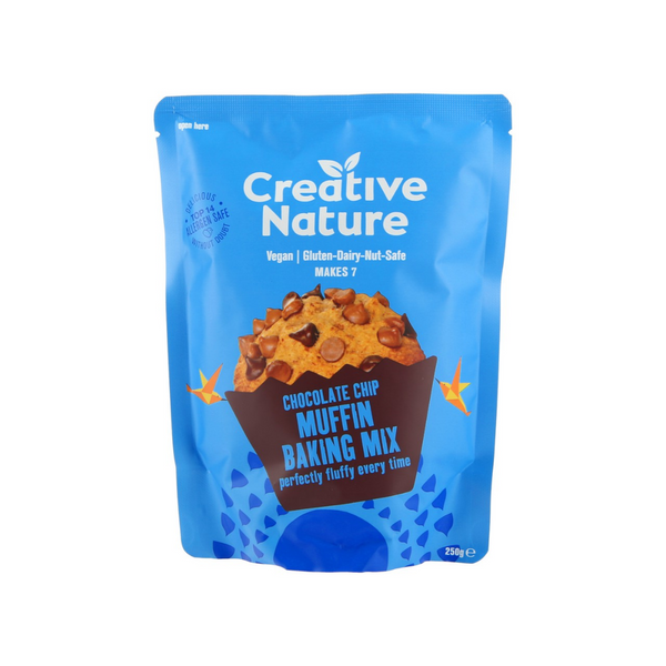 Creative Nature - Chocolate Chip Muffin Mix 250g - Everyday Vegan Grocer