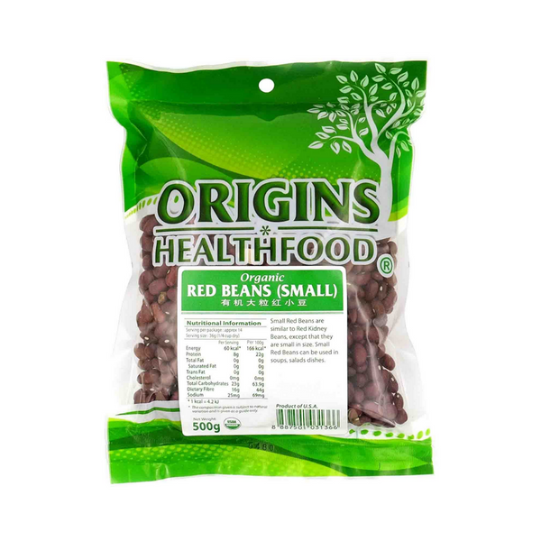Origins - Organic Red Beans (Small) 500g - Everyday Vegan Grocer