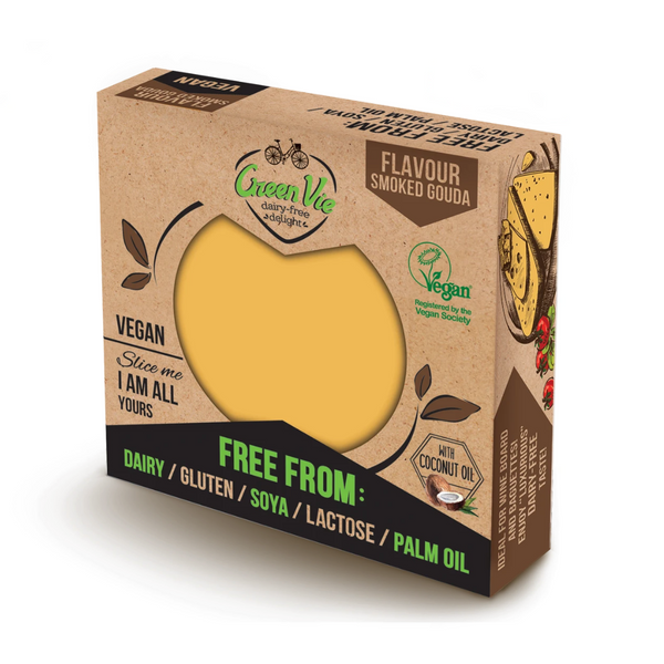 Green Vie - Smoked Gouda Flavour Cheese Block 250g - Everyday Vegan Grocer