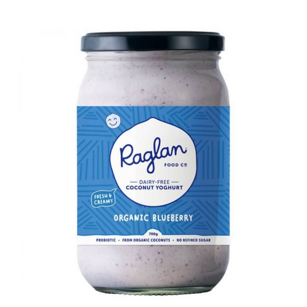 Raglan - Organic Blueberry Coconut Yoghurt 700ml - Everyday Vegan Grocer