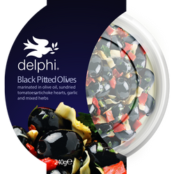 Delphi - Black Pitted Olives Marinated in Olive Oil