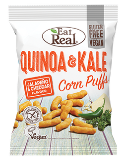 Eat Real - Quinoa & Kale Puff White Cheddar 113g
