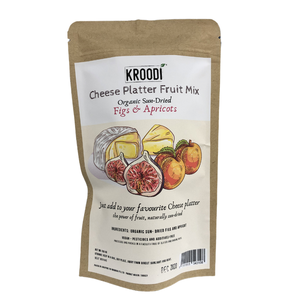 Kroodi - Organic Sun-dried Apricots & Figs 130g - Everyday Vegan Grocer