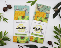 Wrappa Vegan Reusable Food Wraps - Foodies 3 Pack