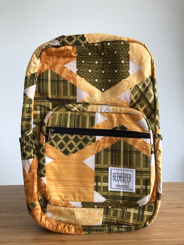 Honeycomb Royal Backpack - Everyday Vegan Grocer