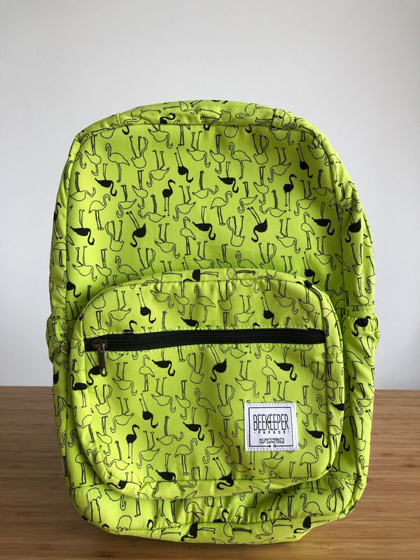 Citron Flamingo Mini Royal Backpack (Masterpiece) - Everyday Vegan Grocer