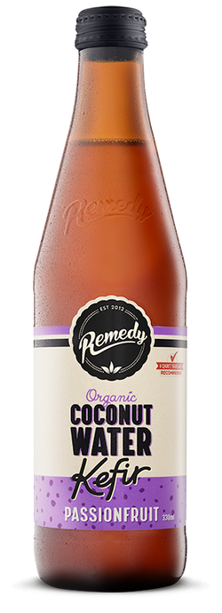 Remedy Coconut Water Kefir - Passionfruit 330ml