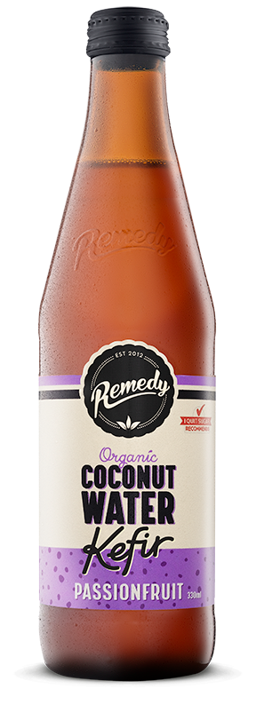 Remedy Coconut Water Kefir - Passionfruit 330ml - Everyday Vegan Grocer