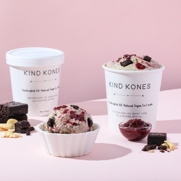 KIND KONES - Pint of Black Forest Ice Cream - Everyday Vegan Grocer