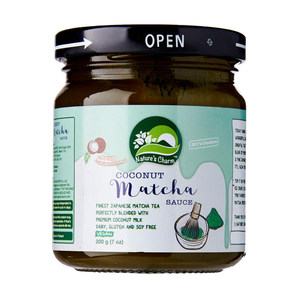Nature's Charm - Coconut Matcha Sauce 200g - Everyday Vegan Grocer