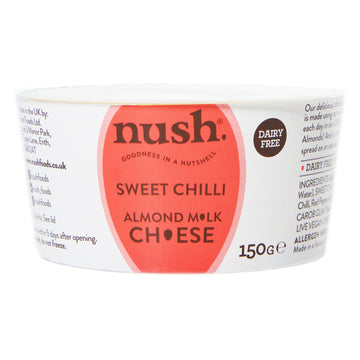 Nush Spreads -  Vegan Almond Cheese Style Dairy Free Spread Sweet Chilli