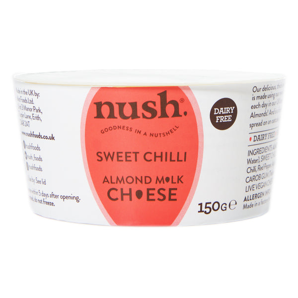 Nush Spreads - Vegan Almond Cheese Style Dairy Free Spread Sweet Chilli - Everyday Vegan Grocer