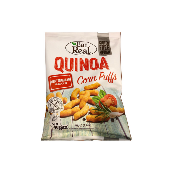 Eat Real - Quinoa Puffs Mediterranean 40g - Everyday Vegan Grocer