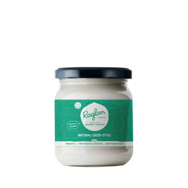 Raglan - Natural Greek Style Coconut Yogurt 350ml - Everyday Vegan Grocer