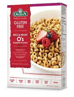 Orgran - Rice & Millet O's Wildberry Flavour