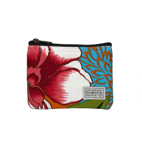 Summer Flowers Coin Purse - Everyday Vegan Grocer