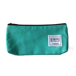 Teal Canvas Pouch - Medium