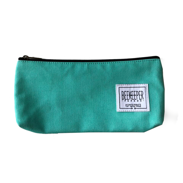 Teal Canvas Pouch - Medium - Everyday Vegan Grocer
