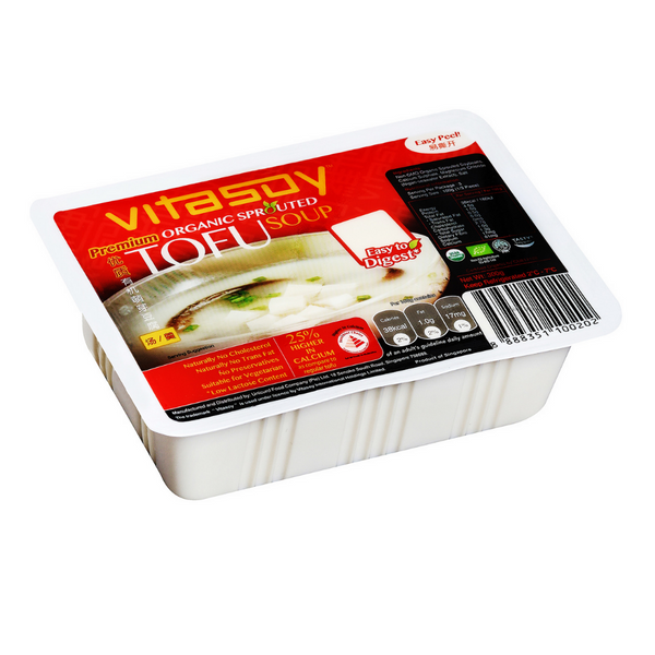 Vitasoy - Organic Sprouted Soup Tofu 300g - Everyday Vegan Grocer