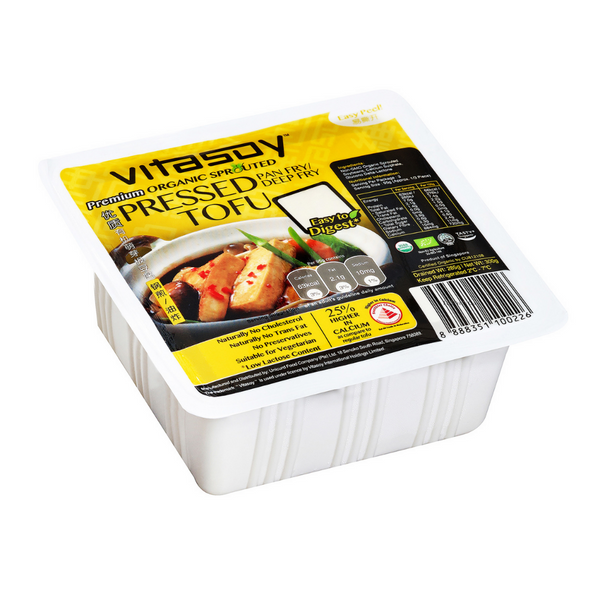 Vitasoy - Organic Sprouted Pressed Tofu 300g - Everyday Vegan Grocer