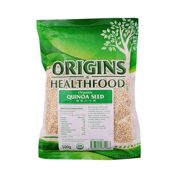 Origins - Organic Quinoa Seeds (White) 500g - Everyday Vegan Grocer